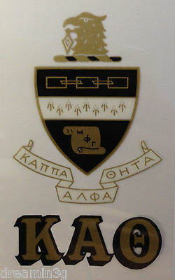 Kappa Alpha Theta 2-Pack of Outside Stickers (Crest/Letters)