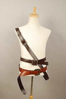 Pirates OF The Caribbean Captain Jack Sparrow Cosplay Baldric Belt+Buckle Strap