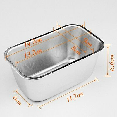 0.7L Rectangle Aluminum Box Loaf Tin for Home Bread Cake Cakes Baking Bakeware