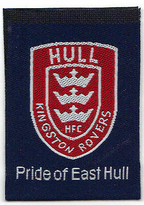 Hull Kingston Rovers woven labels pack of 10