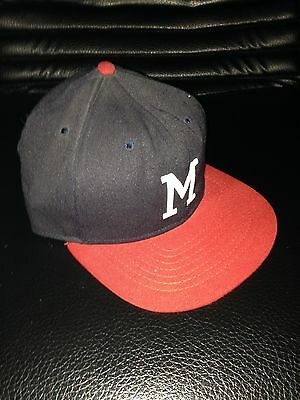 1950's Milwaukee Braves Pro Model Roman Cap / Hat Autographed by 10 Players JSA