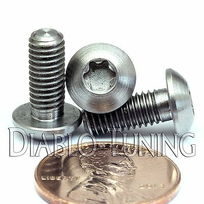 6x Titanium Half-Round Head M5 x 12//14//16mm Bolt Button Head Torx Screw T25