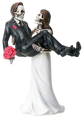 DOD DAY OF DEAD -  WEDDING COUPLE  CARRYING GROOM FIGURINE  -- NEW REDUCED PRICE