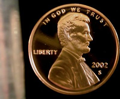 2002-S San Francisco Mint Lincoln Memorial Cent Proof