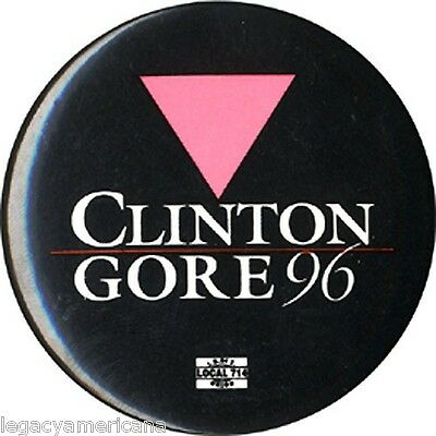 1996 Clinton Gore Gay Lesbian Support Campaign Button (2274)