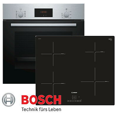 bosch backofen induktion kochfeld autark e herd edelstahl eur 539 99 picclick de. Black Bedroom Furniture Sets. Home Design Ideas