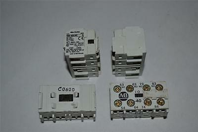 ONE Used Allen Bradley Auxiliary Contact Adder Deck 195-MA40