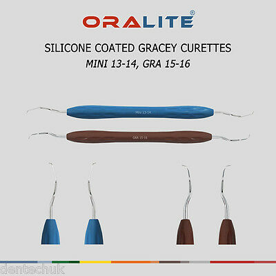 Silicone Coated Gracey Curette Mini 13/14 + 15/16 Dental Instrument Periodontal