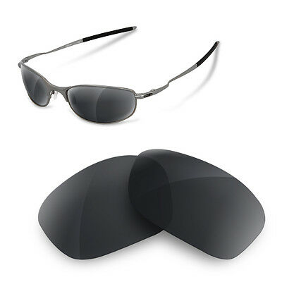 Polarized  Replacement Lenses for oakley tightrope in black iridium color