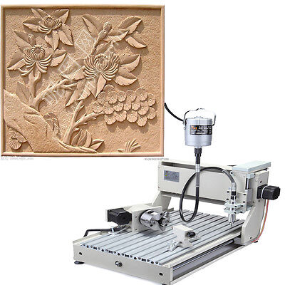 4 Axis Router CNC 3040C Engraver Machine PCB engraving Complete craft making