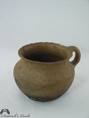 Historic Antique Taos Bean Pot With Handle