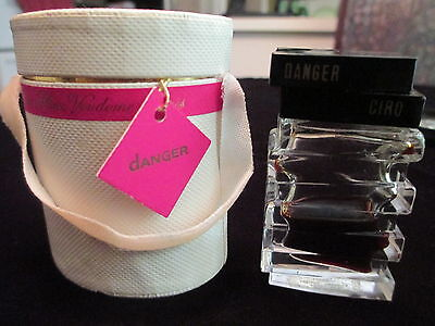 VINTAGE ART DECO PERFUME BOTTLE BY CIRO 'DANGER' WITH PACKAGING