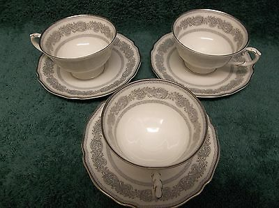 Vtg 3 Sets Bone China Cups & Saucers by Franconia Krautheim Made in Bavaria