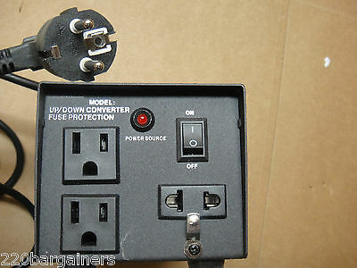 AC300 300 Watt Heavy Duty Power Voltage Converter with Three Outlets 110 220V