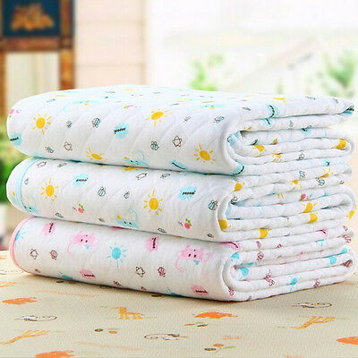 Cotton Baby Infant Waterproof Durable Urine Pad Cover Soft Changing Mat Diaper