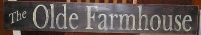 Hp Primitive The Olde Farmhouse Wood Sign Rustic Large Customize Colors