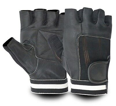 Leather Weight Lifting Padded Exercise Fitness Body Building Training Gym Gloves