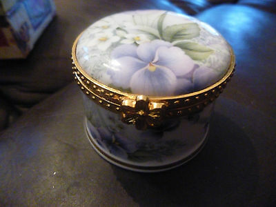 Fenton China Trinket Box Silver Wedding Inscription Boxed New Ideal Gift
