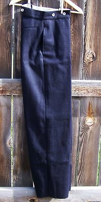 civil war reenactor navy blue trousers  32