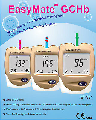 Hemoglobin Monitor - Also Cholesterol & Glucose - Full kit, NEW RRP $235