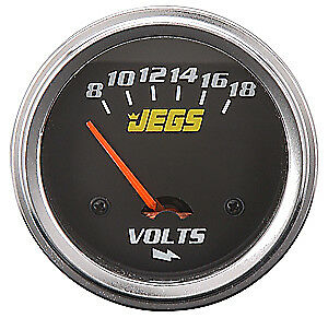 """JEGS Performance Products 41203 2-5/8"""" Electrical Voltmeter 8-18 Volts"""