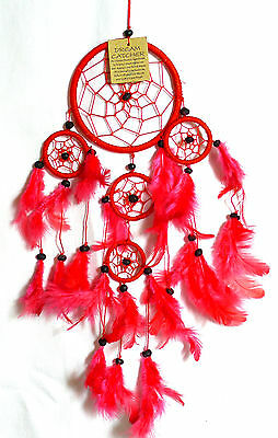CAPTEUR/ATTRAPEUR DE REVE/DREAM CATCHER country Rouge dreamcatcher Red