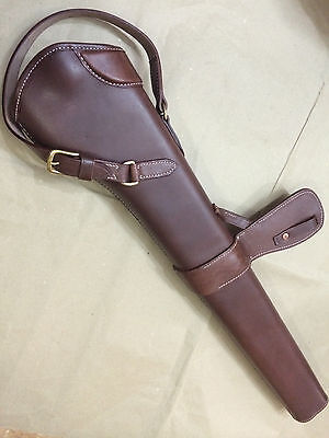 WWI WWII 303 SMLE S.M.L.E. Rifle LEATHER BUCKET - ANTIQUE BROWN