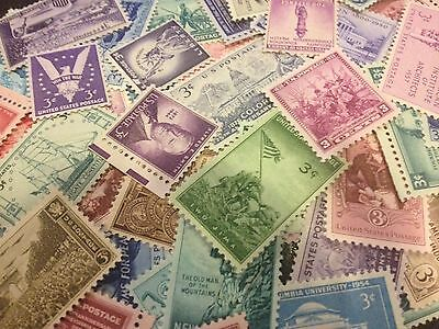 50 MNH OLD All Different 3 cent stamps