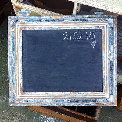 Large Chalkboard, Framed Shabby Chic, Beachhouse Decor, Double Sided Menu Board