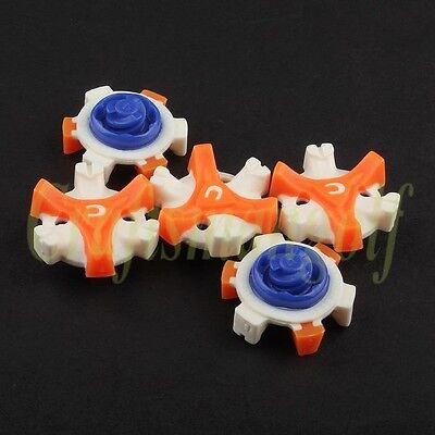 14 pcs Orange White Blue Champ Fast Twist Tri-Lock Spikes For FootJoy Callaway