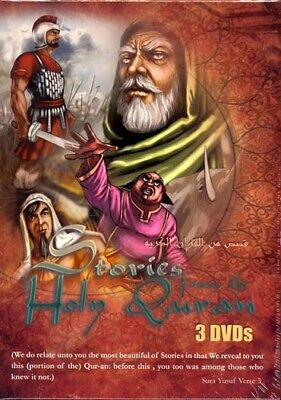 STORIES FROM THE QURAN (3 DVD'S) ANIMATED VIDEO(ENGLISH
