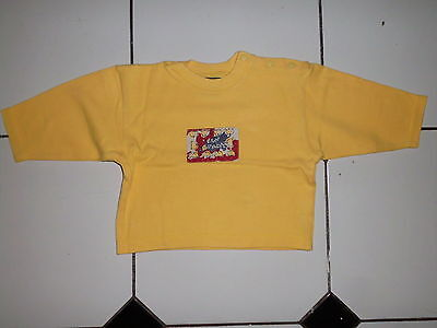 Chouette Pull Jean Bourget Style Eponge Couleur Jaune Taille 18 Mois Ou 80