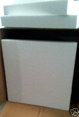 Lot 10 pieces styrofoam sheets for crafts or packing  2x14x14
