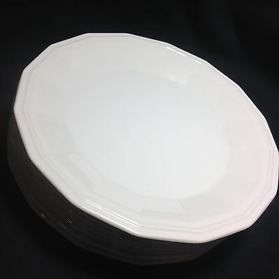 Homer Laughlin Colonial White Dinner Plate 1979 10 1/4 Vintage China HLC China