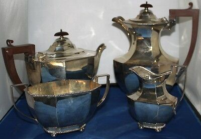 1900's SILVER PLATED TEA COFFEE SERVICE SET 4 pieces