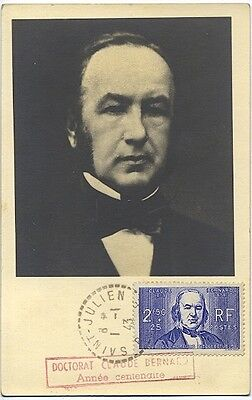 Carte-maximum France n° 464 - Claude Bernard (26316)