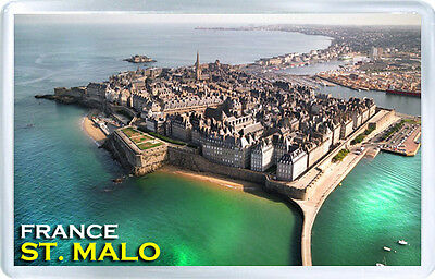 St Malo France Fridge Magnet Souvenir Iman Nevera