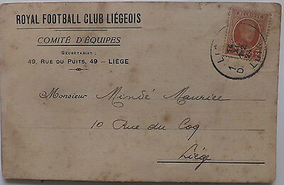 1924/25 FC Liege of Belgium Postcard to Player