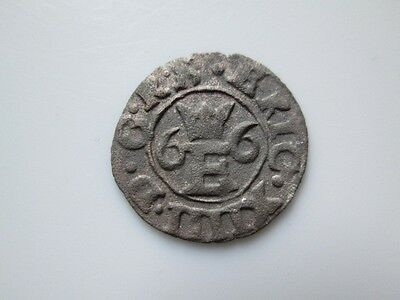Sweden medieval silver coin, Eric 14 schilling   Reval  1566