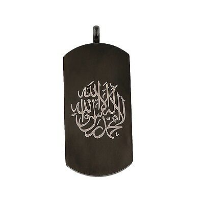 New Muslim Shahada Symbol  Tag Pendant Necklace