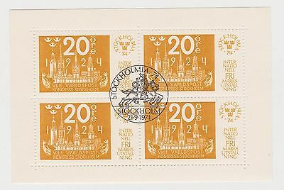 (Q12-17) 1974 Sweden 4 sheetlets Stockholm MIA 74 used