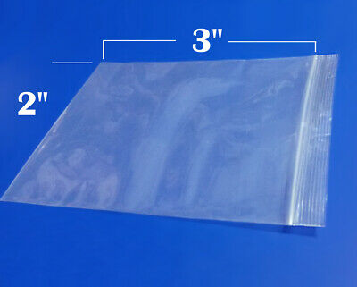 Small 100 4x5 3/4 Lip & Tape OP Poly Flap Over Top Self Adhesive Strip Seal Bags