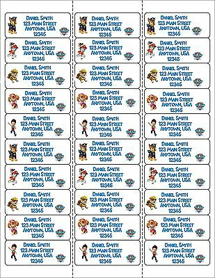 Paw Patrol Return Mailing Address Labels, Paw Patrol, Address Labels, Party