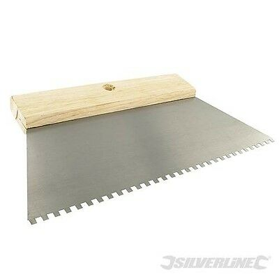 250mm Adhesive Trowel Comb 4mm Teeth Tiling Grout Spreader Floor Wall Adhesives