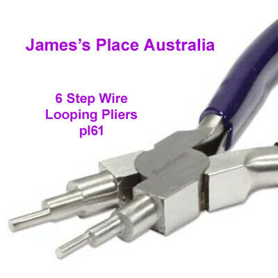 6 Step Bail Making Pliers for bails & looping, etc