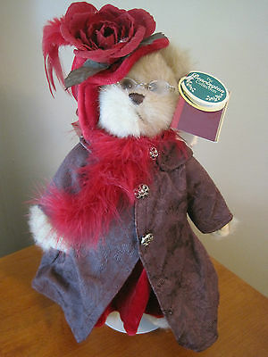 """BEARINGTON BEARS PLUSH COLLECTION LIMITED **QUEEN FEDORA**   14""""  TALL"""