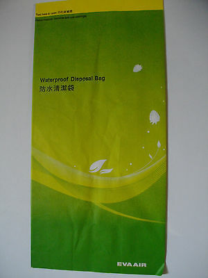EVA Air (China Taiwan) Waterproof Disposal Bag NEW