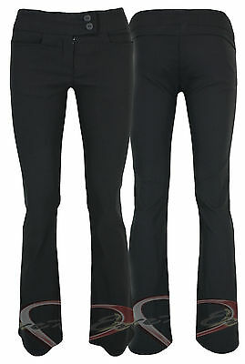 Ladies Black Work Trousers Quality Stretch Fitted Work Pants In 3 Leg Lengths