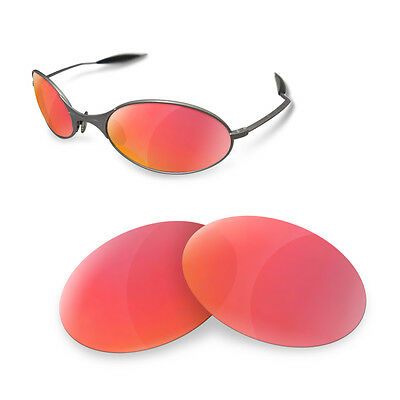 Polarized  Replacement Lenses for OAKLEY E wire ruby red color