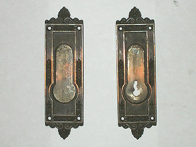 "Antique Eastlake Pocket Door Pull Russell & Erwin 6 3/4"" x 1 7/8""  Stamped 822"